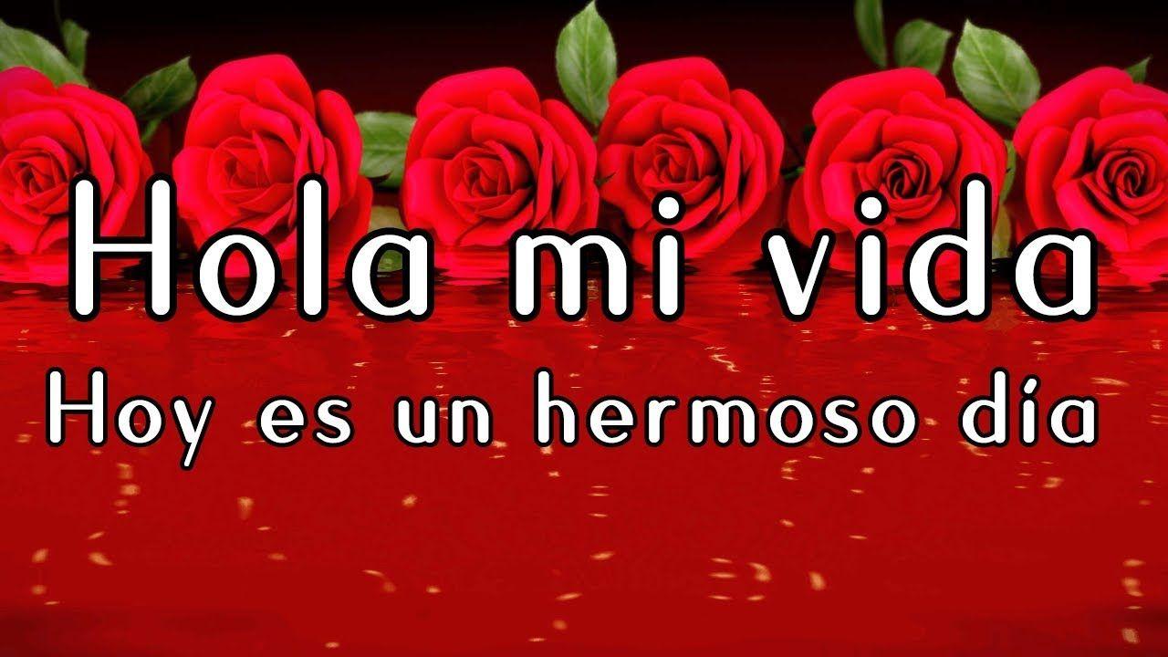 Hola Mi Vida Hoy Es Un Hermoso Dia Frases Y Mensajes De Amor Para