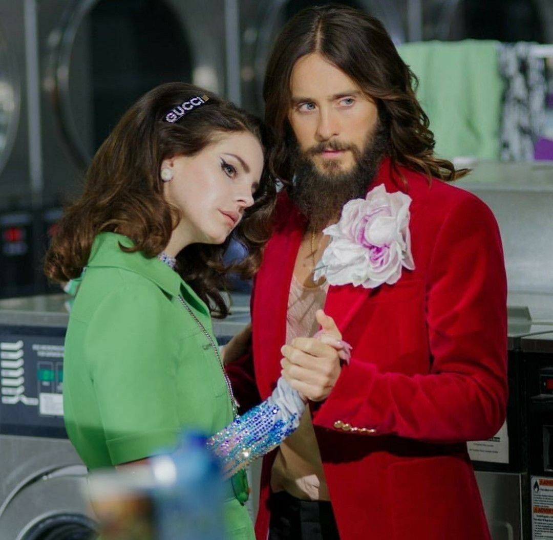 5d5ca211bb8a9 Lana Del Rey and Jared Leto dancing in the laundromat for Gucci Guilty  fragrance campaign 2019