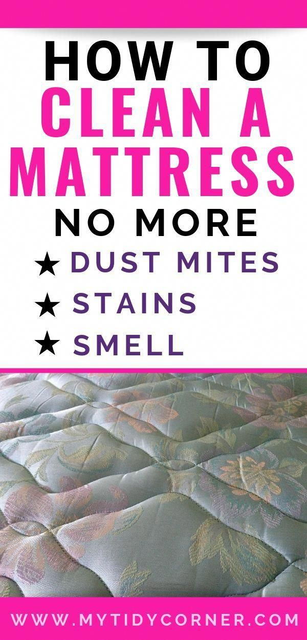 Simple tips on how to clean a mattress to get rid of
