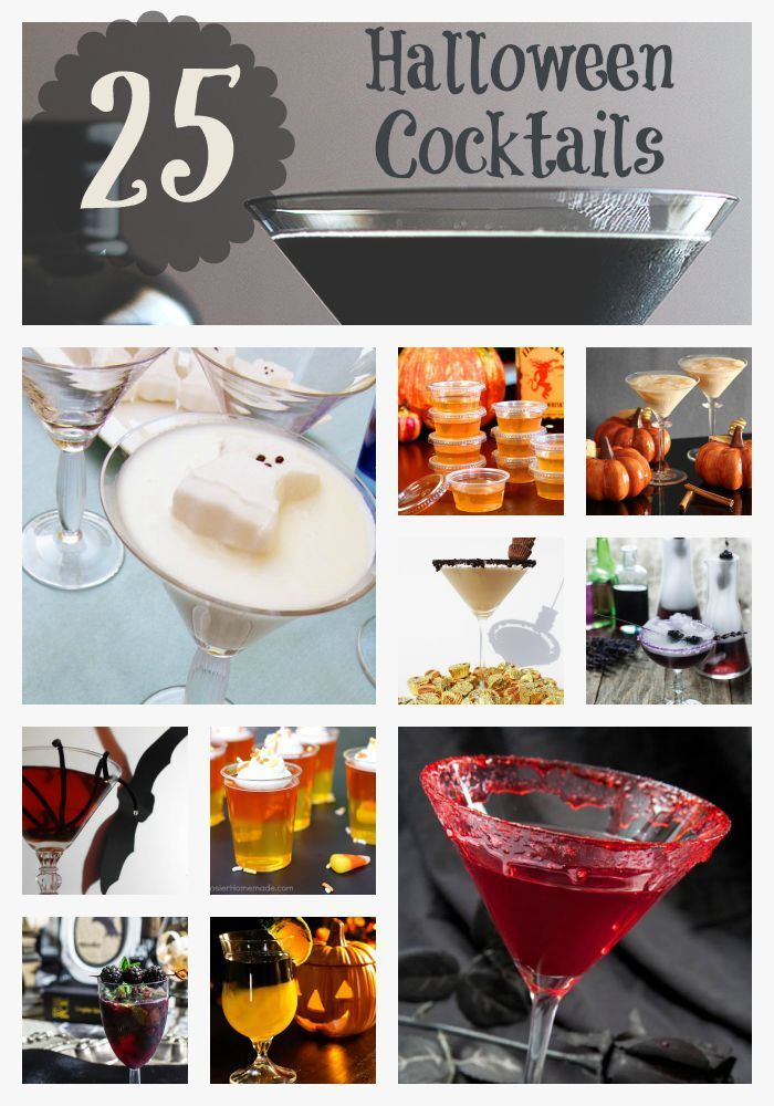 Adult Halloween Cocktail recipes to get your party started Vinos - halloween party decorations adults