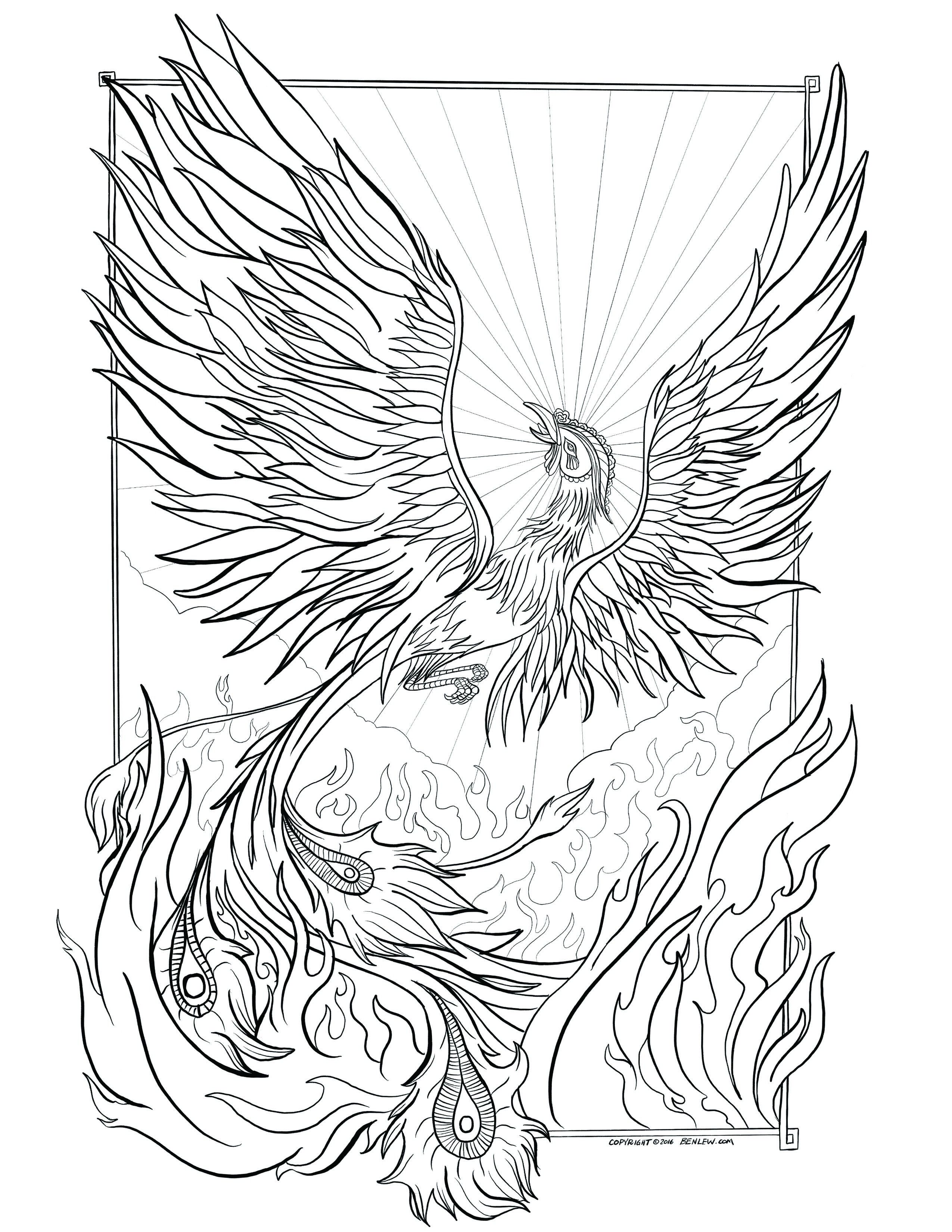 Wonderful Picture Of Phoenix Coloring Page Bird Coloring Pages