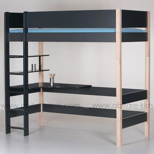 superbe lit mezzanine 90x200 cm avec bureau de la marque manis h votre enfant peut galement. Black Bedroom Furniture Sets. Home Design Ideas