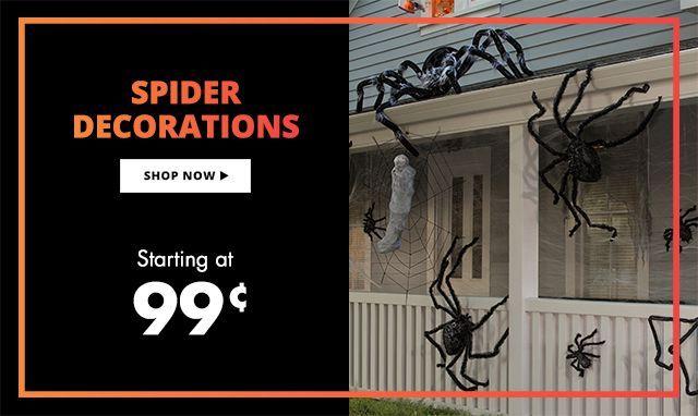 Giant Spiders  Spider Webs Halloween Decorations Starting at 99 - halloween decorations spider