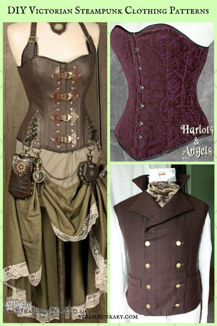 Unique DIY Victorian Steampunk Clothing Patterns Harlots