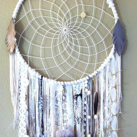 Huge Dream Catchers Custom Order Huge 40 inch WHITE DREAMCATCHER doily or woven your 6