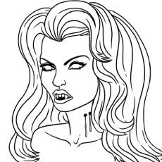 Online Coloring Pages Race Cars Vampire drawings, Easy