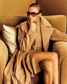 What every woman needs ... a cashmere coat ... in camel. Classic ...