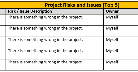A Weekly Project Status Report Template Is Key To Project Manager