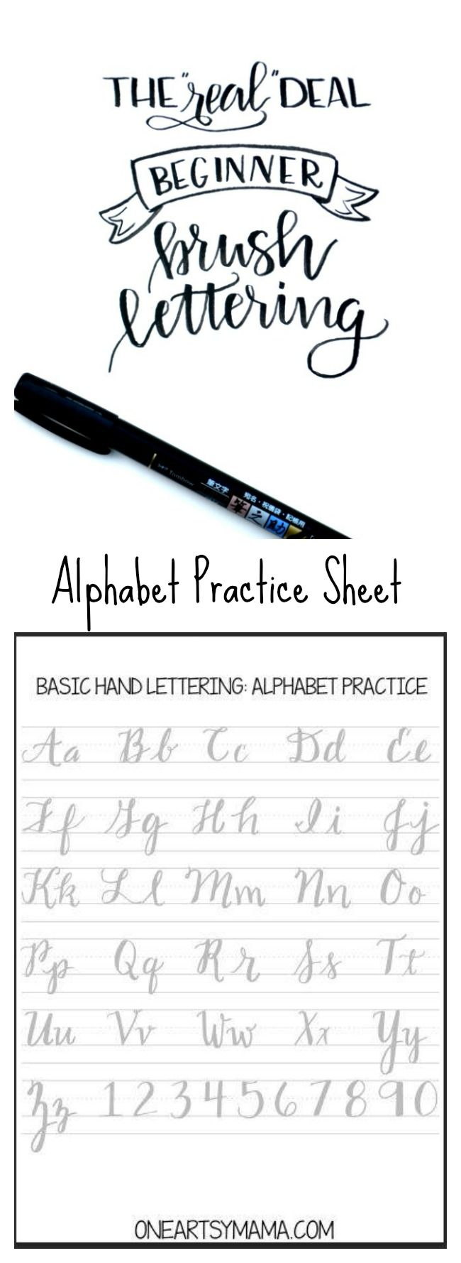 Brush Lettering Practice Page Lettering Brush Lettering Lettering Tutorial [ 1778 x 650 Pixel ]
