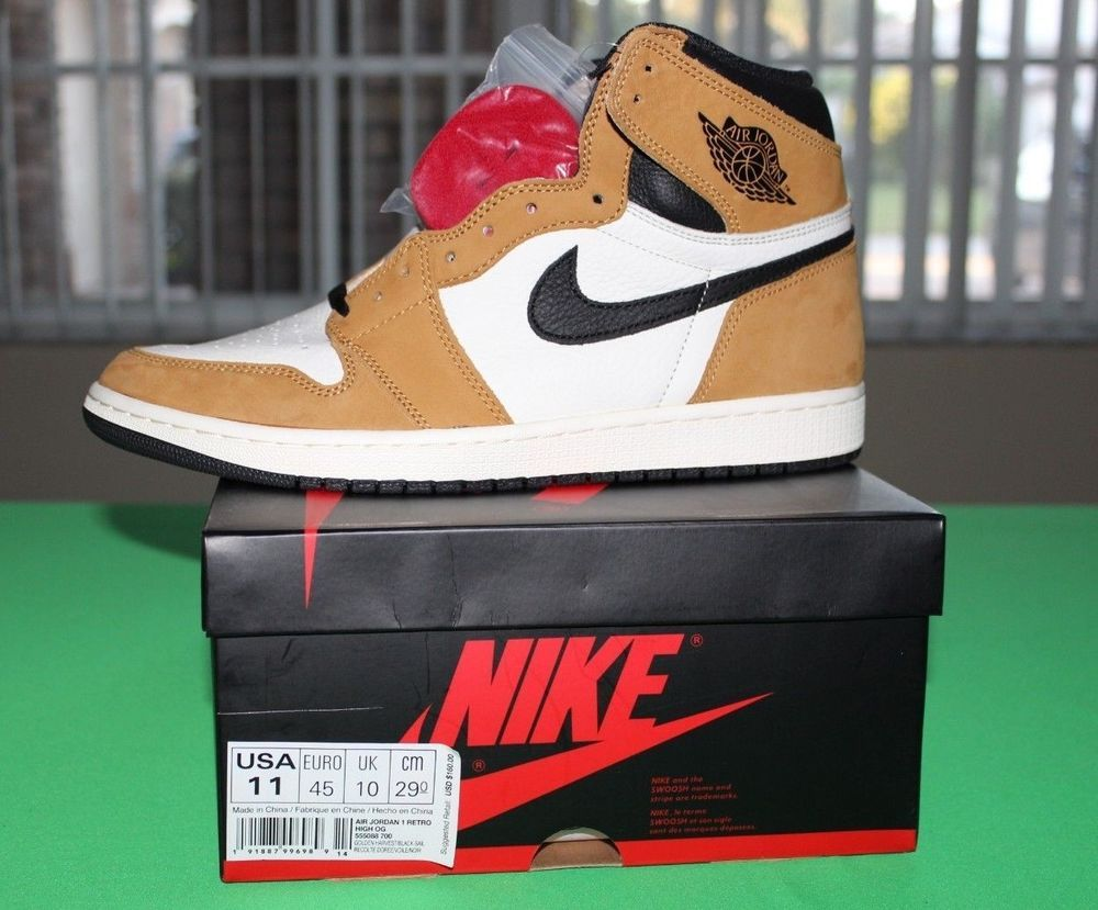 Nike Air Jordan 1 Retro High Og Rookie Of The Year Size 11 Golden