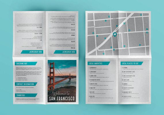 This custom welcome booklet and map design will give your guests a