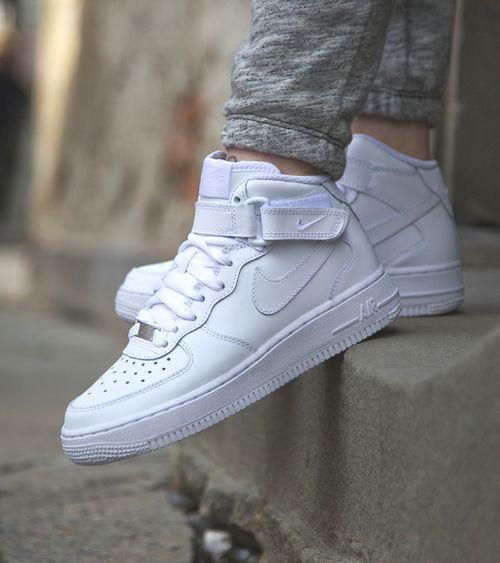 Nike Air Force 1 High White Tumblr | Nike air force