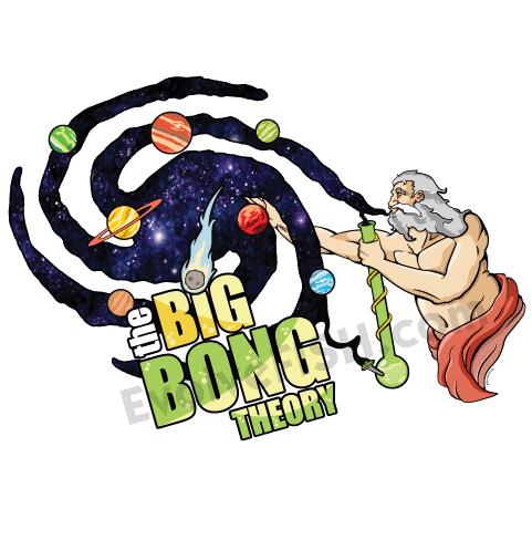 The Big bong theory god creation marijuana MMJ atheist t-shirt shirt tshirt