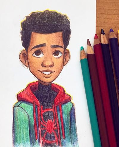 How To Draw Miles Morales Face : miles, morales, Miles, Morales, AlyssaTallent, DeviantArt, Spiderman, Drawing,, Marvel, Drawings