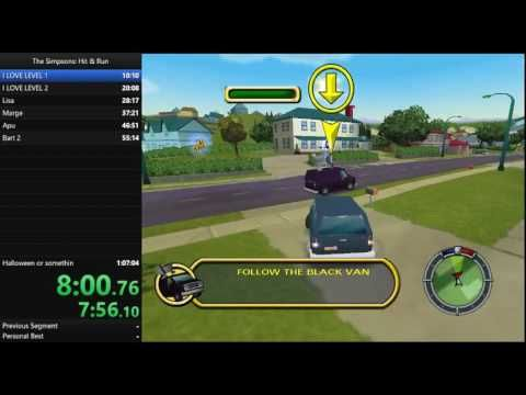 The Simpsons Hit and Run: Any % Speedrun 1:03:18 (WR)