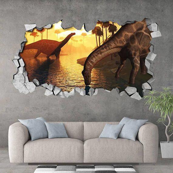 kids room kids decor dinosaurs 3d effect wall sticker wall rh pinterest com