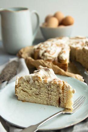 Weltbester Zimtschnecken-Kuchen / Rosenkuchen - einfaches Rezept