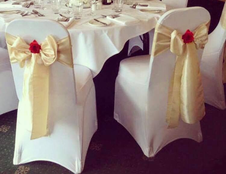 wedding chair covers tamworth work out beauty the beast inspired dressing cover and sashe with red roses perfect for your or party available to hire from make it special events