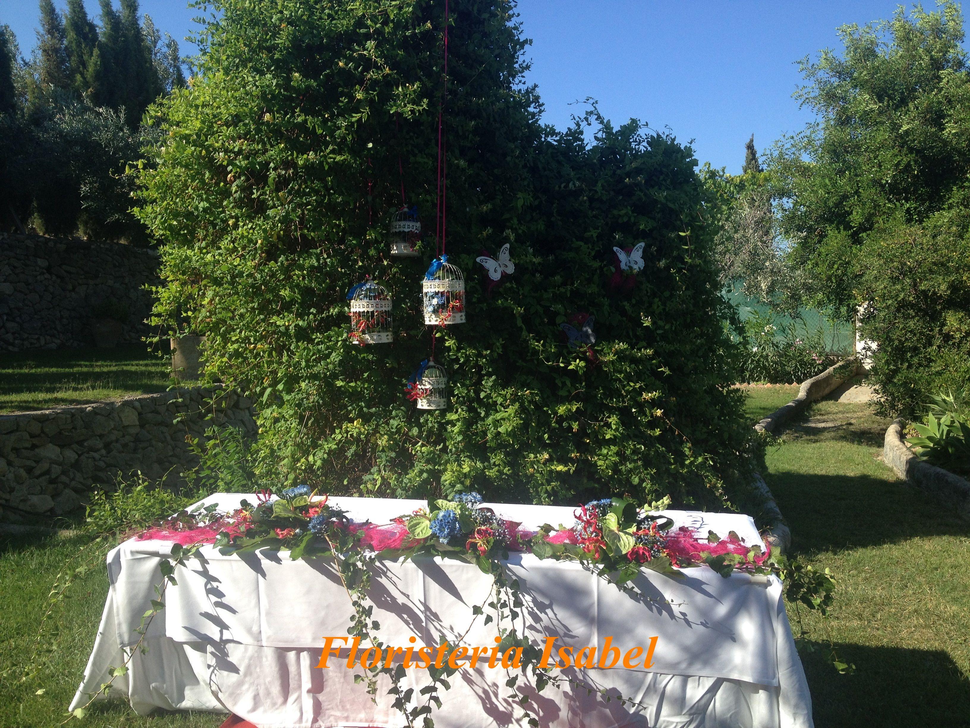 decoración boda civil en  Venta la Chata