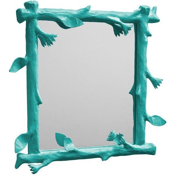 Stray Dog Designs Funky Faux Bois Bahaman Sea Blue Mirror ($645 ...