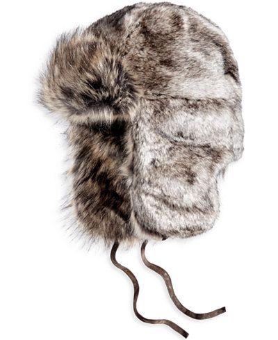Woolrich Men s Faux-Fur Trooper Hat - Hats 932b58e6fde1