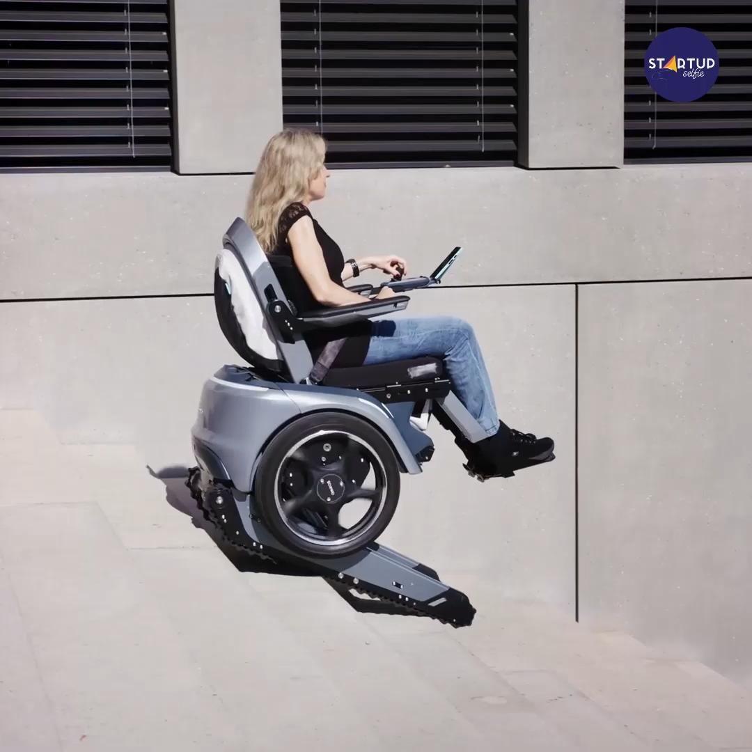 Futuristic Stair-Climbing Wheelchair