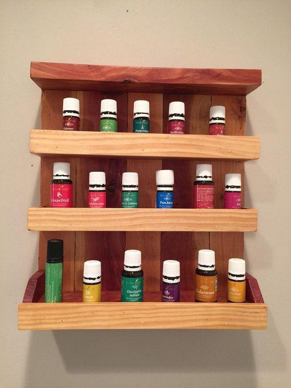 Essential Oils Spice Kitchen Bathroom Shelf by WindingRunCreations
