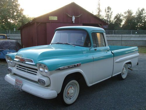 1959 chevrolet apache short bed fleetside big window chevy truck rh pinterest com