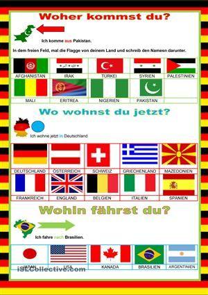Willkommen auf Deutsch - Länder | Oktatás | Pinterest | Auf deutsch ...