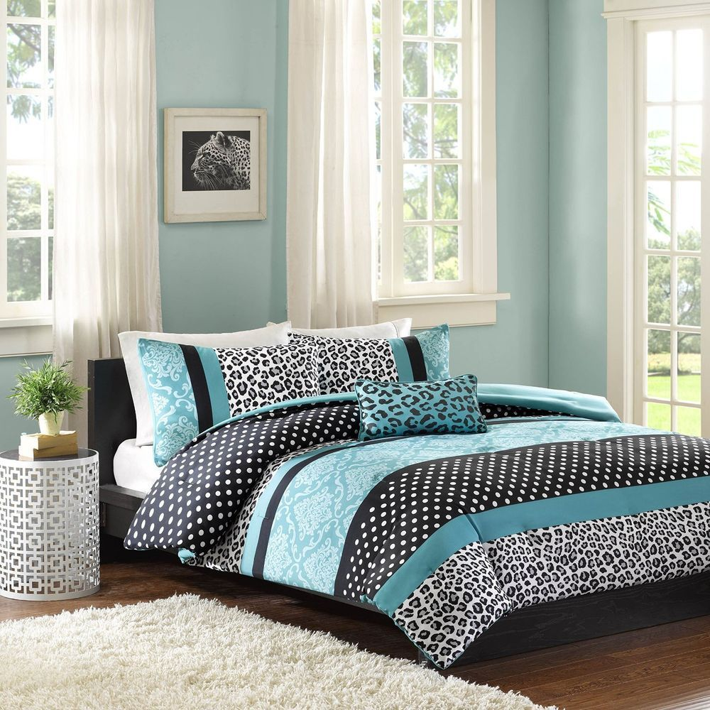 Mizone Chloe 4 Piece Comforter Set Full Queen Teal Mi Zone Mizone