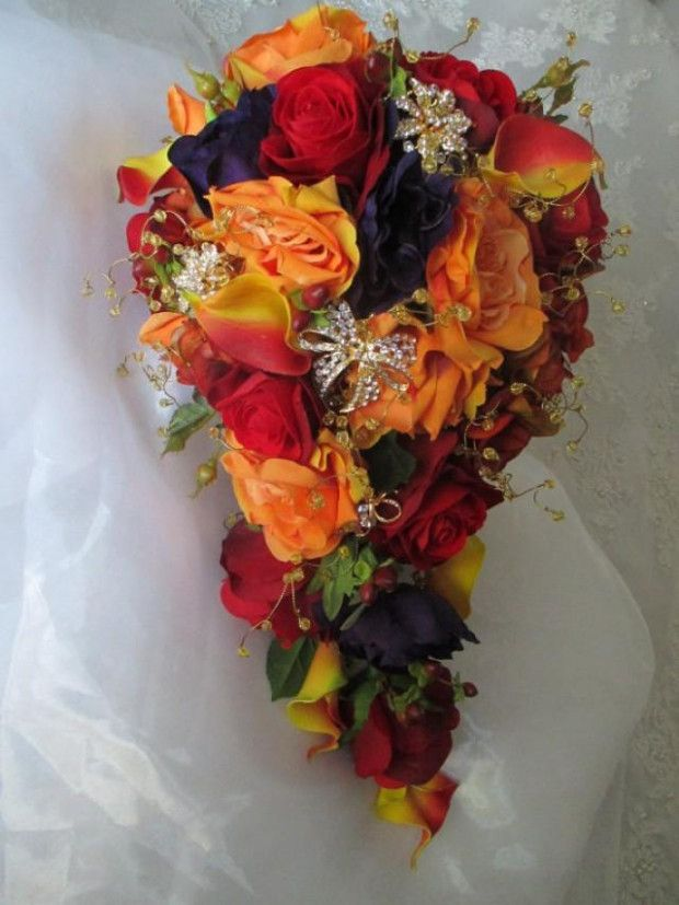 Romantic Fall Wedding Floral Design #fantasticweddingbouquets