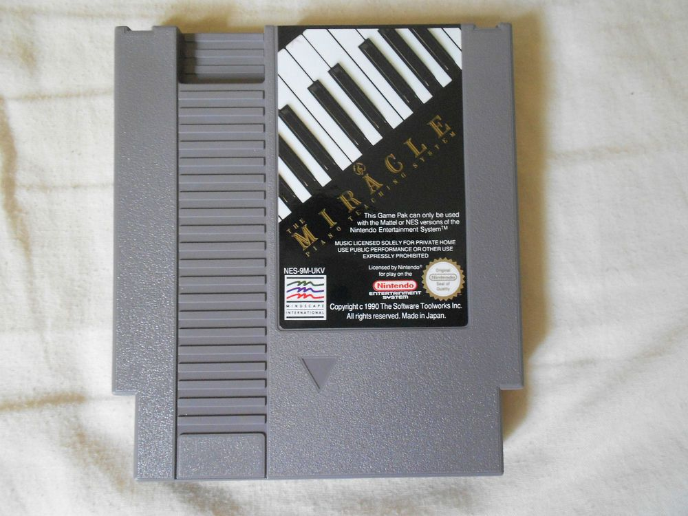 MIRACLE PIANO TEACHING SYSTEM   ULTRA RARE   PAL   A   UKV NINTENDO NES GAME