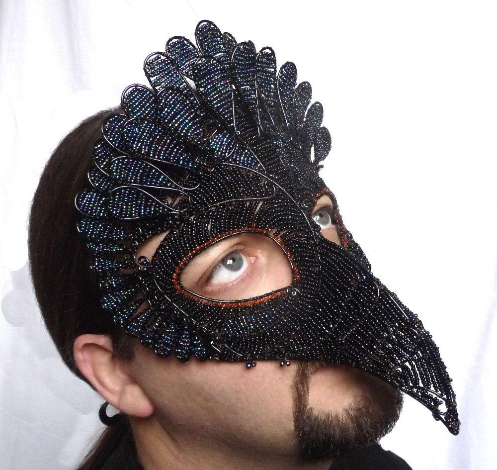 Vulture masquerade mask mens handmade bird by gringrimaceandsqueak ...