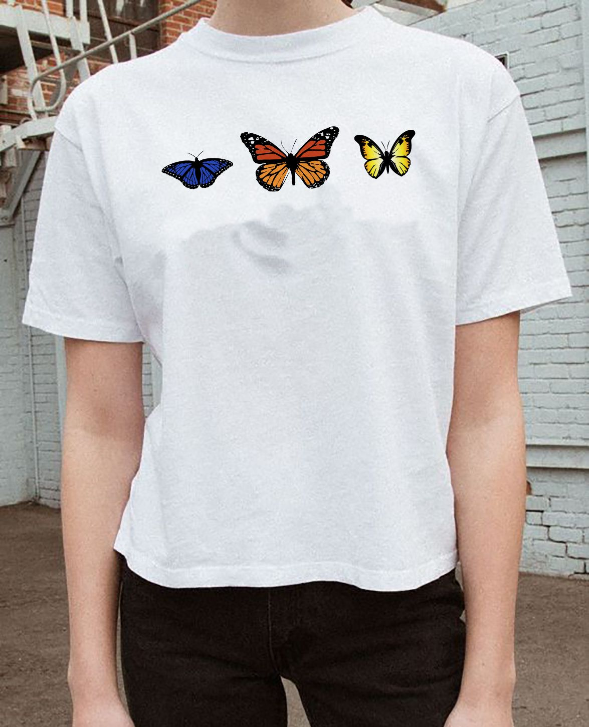 9564f5a2f Butterfly graphic t-shirt #graphictee #tshirt #butterflies | clothes ...
