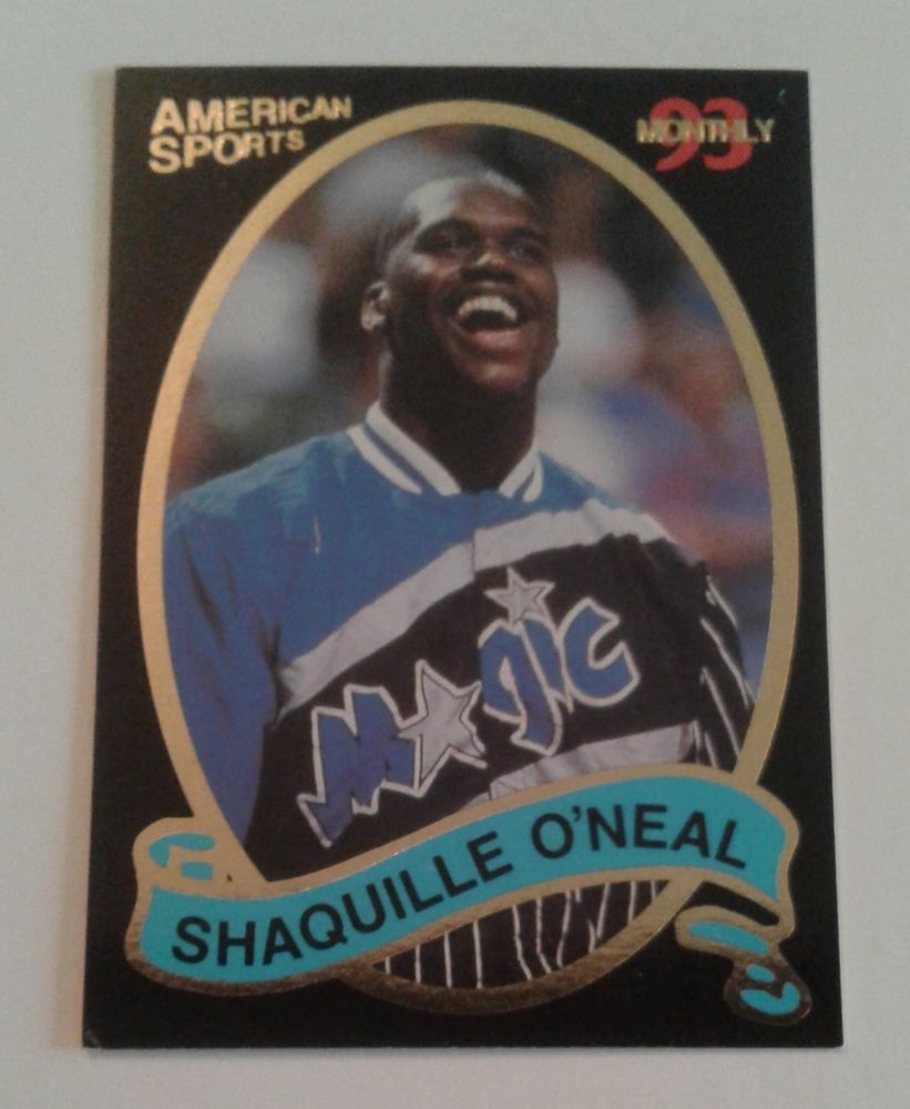 1992 93 SHAQUILLE O NEAL ROOKIE AMERICAN SPORTS SPECIAL PROMO CARD 2 of 4   OrlandoMagic 7489995b3