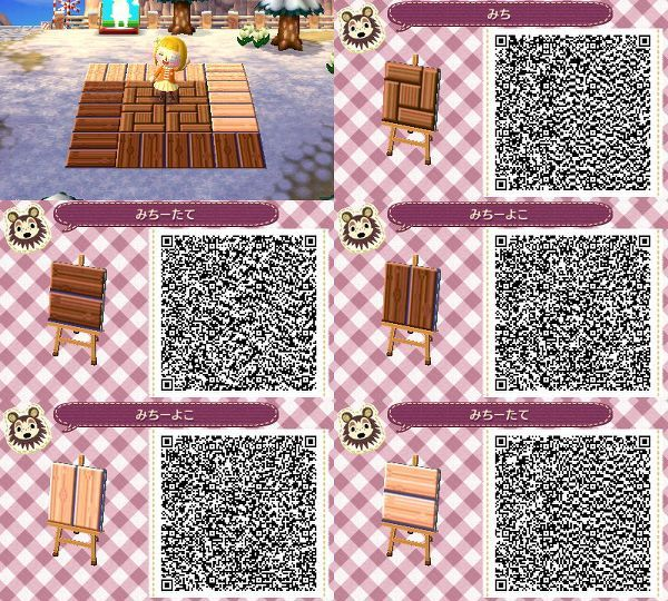 Image Result For Acnl Qr Code Wooden Path Animal Crossing