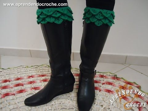 Boot Cuffs de Crochê - Aprendendo Crochê | Botas e outros calçados ...