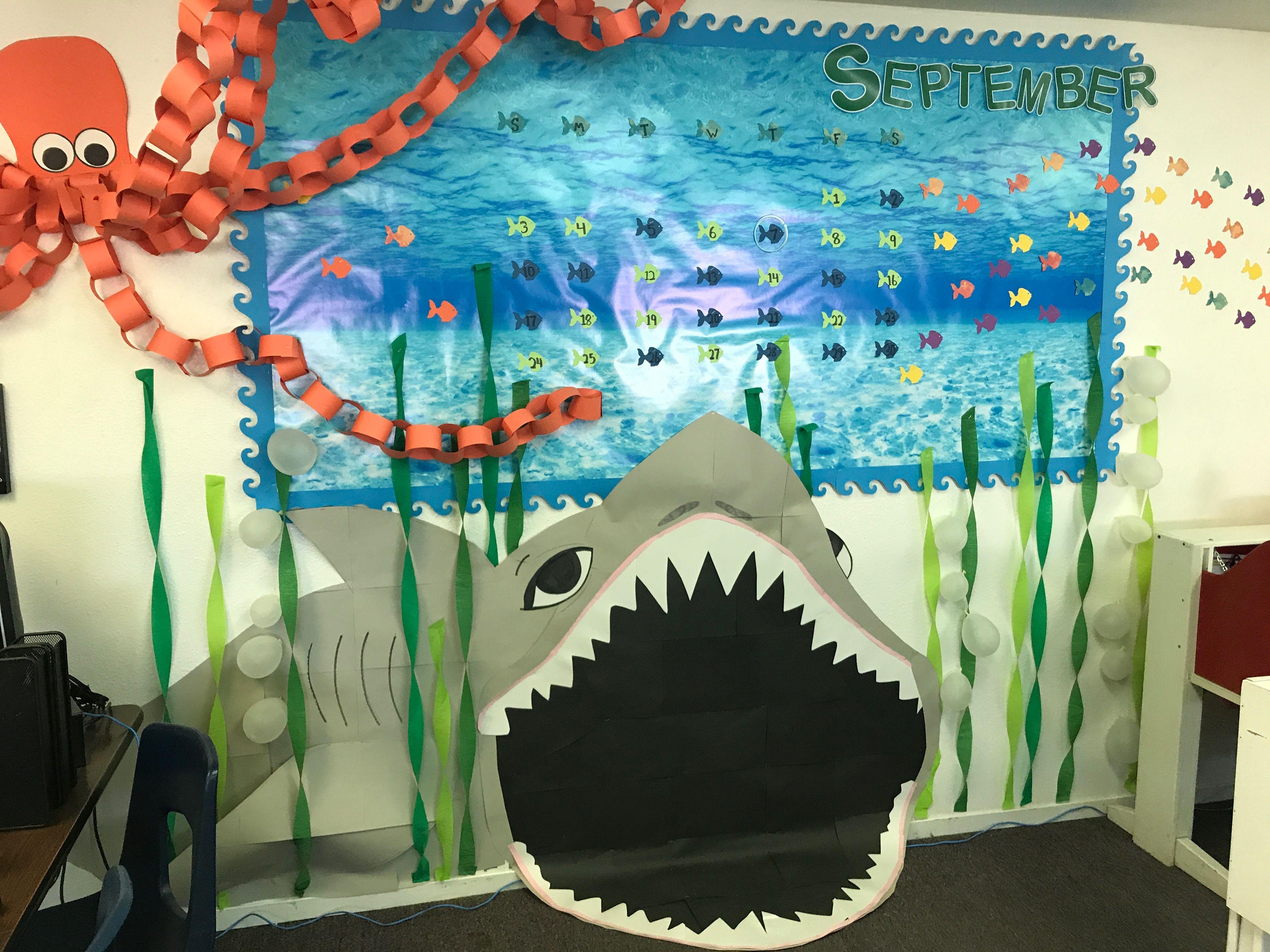 Under The Sea Classroom Theme Calendar