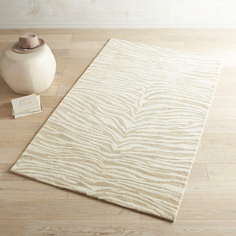 pier 1 living room rugs%0A Arlo Zebra Tan Wool Rug