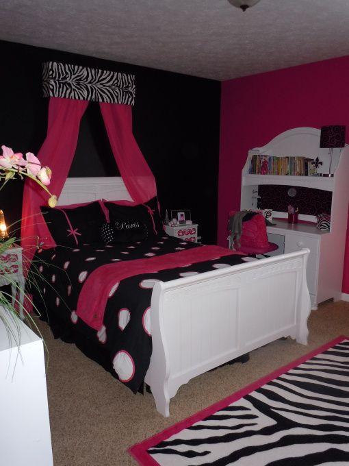 Belles room, Hot pink and black - Tween Room, Girls Rooms ...