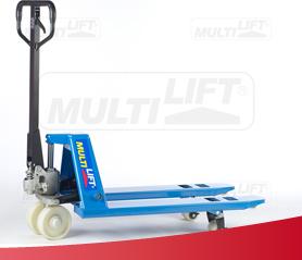 Patín hidráulico mini para manejar carga fácilmente en espacios reducidos. Más información: http://montacargas.com.mx/patines-hidraulicos/