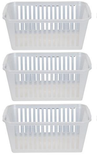 37cm Clear Plastic Handy Basket Storage Basket   Set Of 3