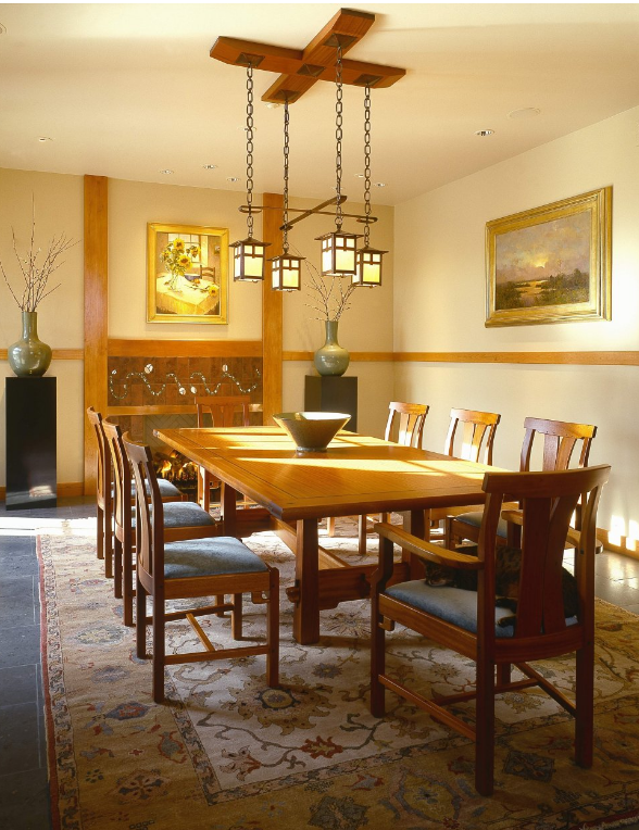 15 Wonderful Craftsman Dining Design Ideas  Craftsman Dining Impressive Craftsman Dining Room Lighting Review