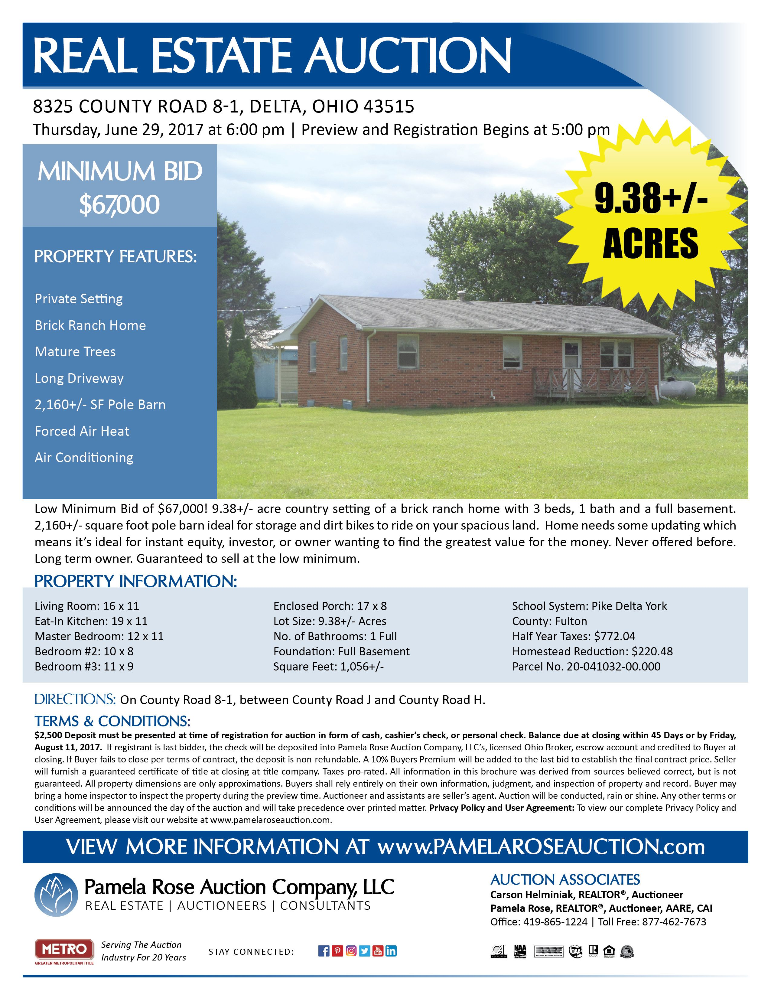 excellent investment opportunity on 9 38 acres at auction rh pinterest es