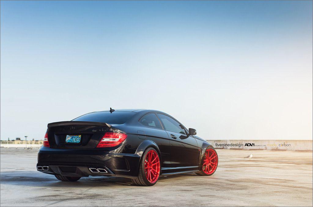 Mode Carbon Mercedes C63 On Red Adv1 Wheels Dengan Gambar