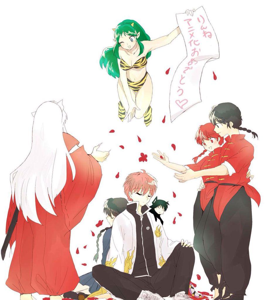 Inuyasha, Lum, Sakura, Rinne, Rokumon and Ranma | Mundo geek ...