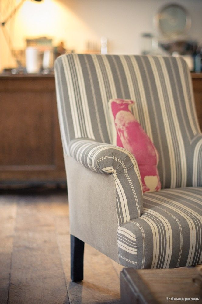 fauteuil rayures grigrigri salon Pinterest