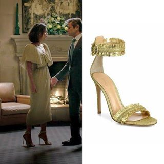 """6a40c89a68 01x14 """"The Gospel According to Blake Carrington"""" - March 9, 2018 Gianvito  Rossi """"Caribe Tinsel Ankle-Strap Sandals"""" - $437.50 #Dynasty  #CristalCarrington"""