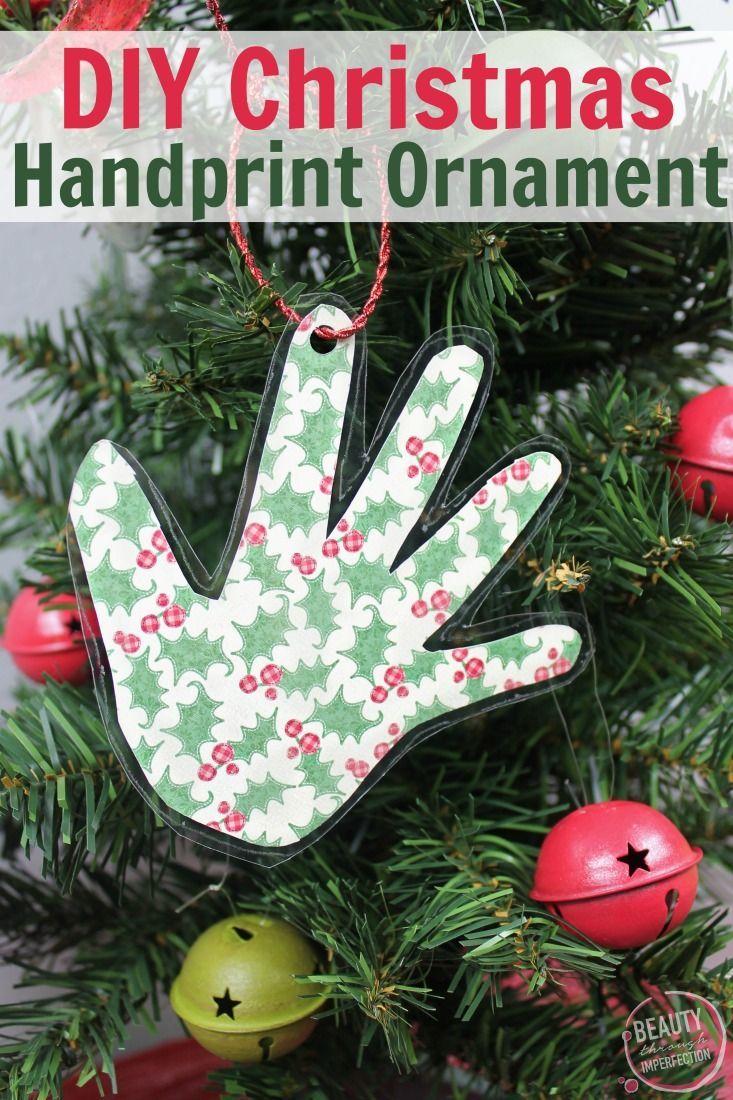 Diy Handprint Keepsake Ornament Handprint Christmas Diy Christmas Ornaments Christmas Ornaments