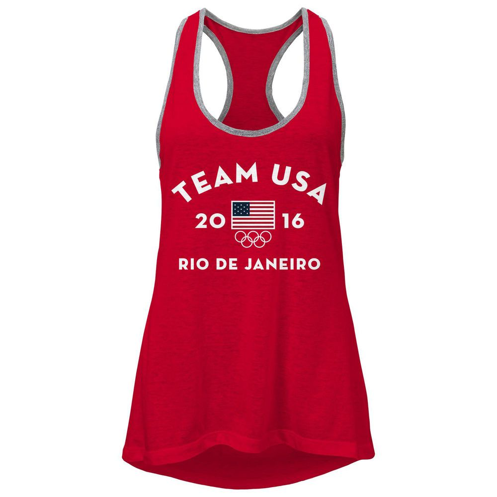 Women s Red Team USA 2016 Olympics Very Official Tank Top  2d9fab7acb
